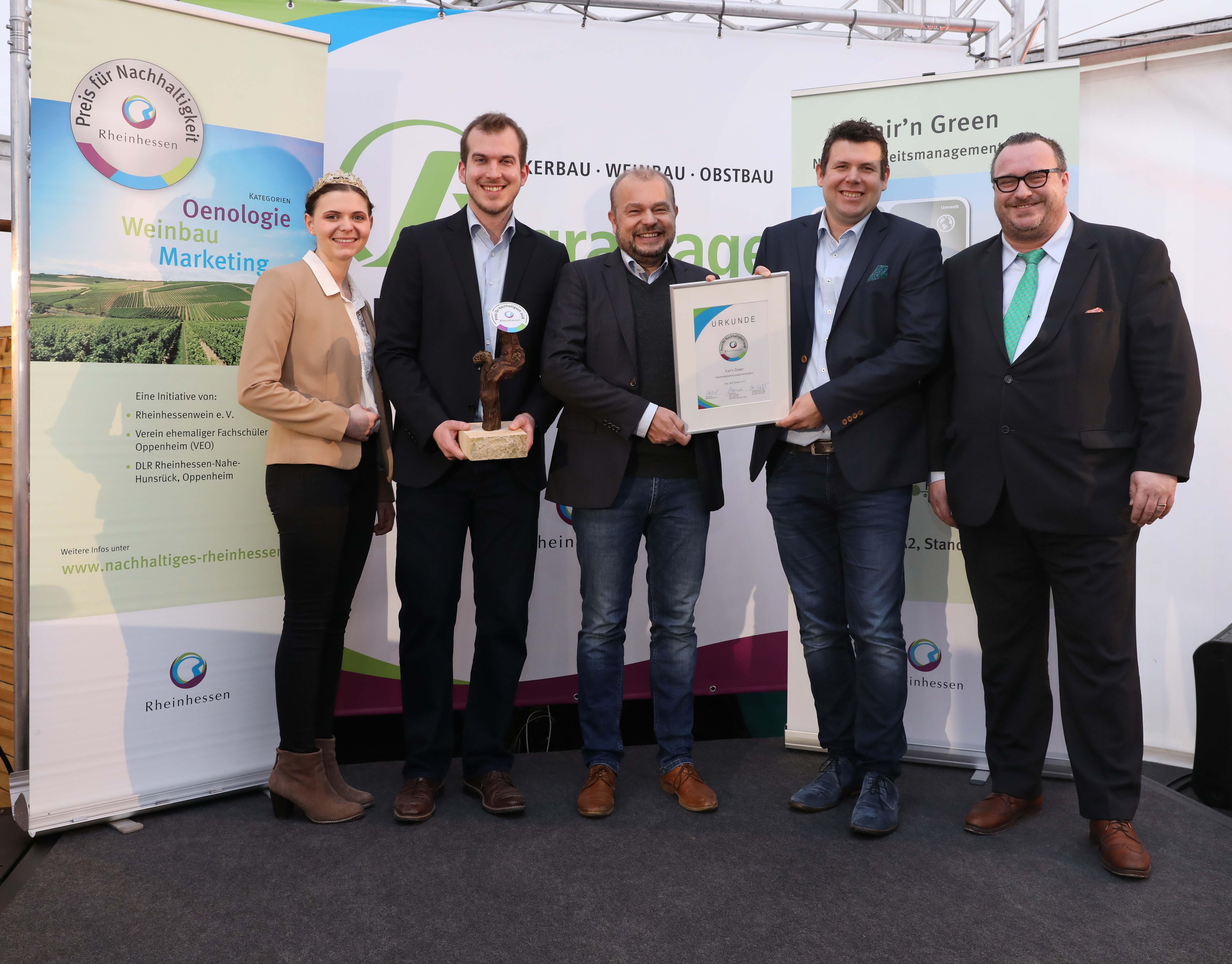 FAIR'N GREEN gewinnt Preis für Nachhaltigkeit 2018 - Foto Alexander Sell